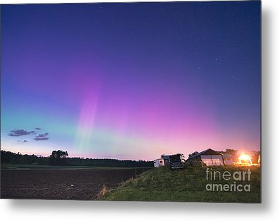 Aurora Energized Pepper Fields Metal Print by Patrick Fennell