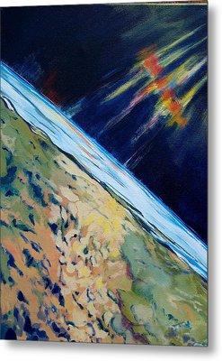 Aurora Over Antartica Metal Print by Patricia Bigelow