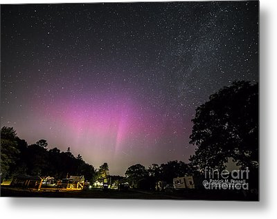 Aurora Over Sagadahoc Bay Campground Metal Print by Patrick Fennell