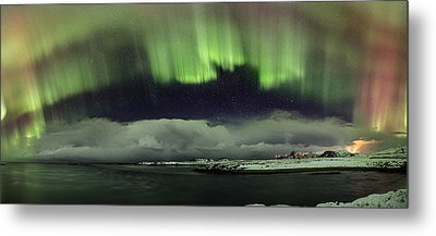 Aurora Polaris Panoramic II Metal Print by Frank Olsen