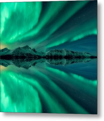 Aurora Square 2 Metal Print by Tor-Ivar Naess
