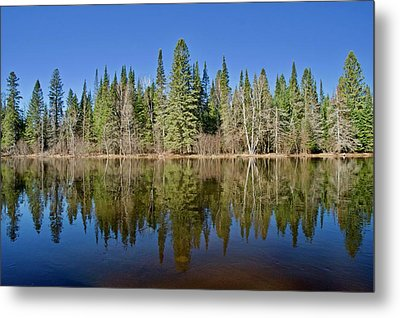 Metal Print featuring the photograph Ausable Reflections 1768 by Michael Peychich