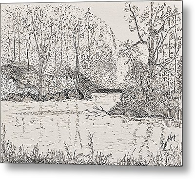 Ausable River At Rock Glen Metal Print
