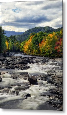 Metal Print featuring the photograph Ausable River Jay Ny by Mark Papke