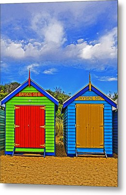 Aussie Beach Boxes Metal Print by Dennis Cox WorldViews