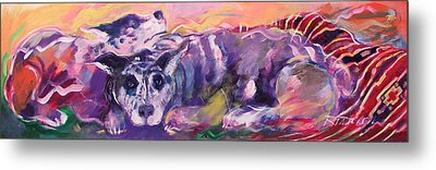 Aussies On An Indian Blanket Metal Print by Ron Patterson