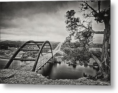 Austin 360 Bridge In Early Dawn Metal Print