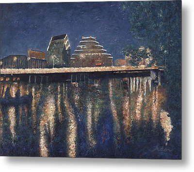 Austin At Night Metal Print
