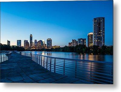 Austin Boardwalk Skyline Night Metal Print