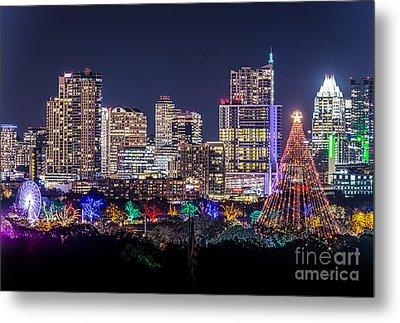 Austin Christmas Tree Metal Print by Tod and Cynthia Grubbs