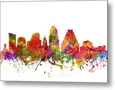 Austin Cityscape 08 Metal Print by Aged Pixel