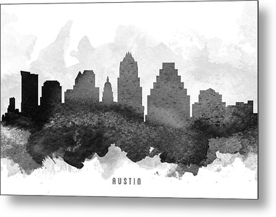 Austin Cityscape 11 Metal Print by Aged Pixel