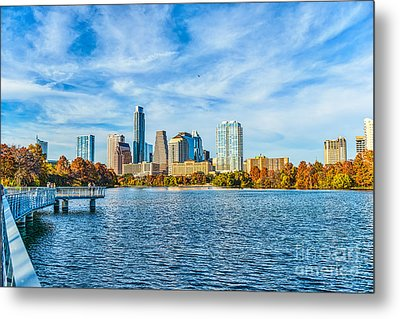 Austin Cityscape View Metal Print by Tod and Cynthia Grubbs