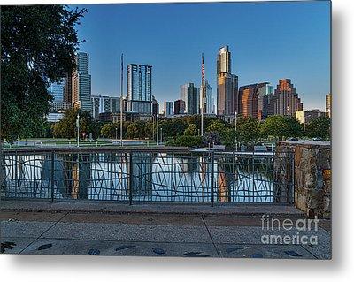 Austin Skyline Reflections Metal Print
