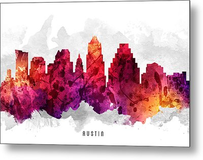 Austin Texas Cityscape 14 Metal Print by Aged Pixel