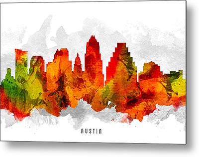 Austin Texas Cityscape 15 Metal Print by Aged Pixel