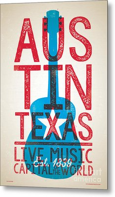 Austin Texas - Live Music Metal Print by Jim Zahniser
