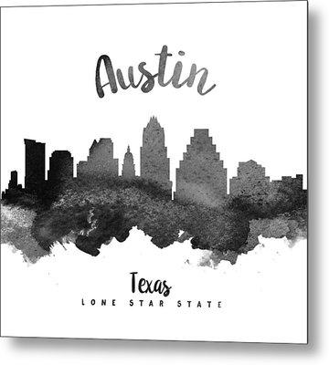 Austin Texas Skyline 18 Metal Print by Aged Pixel