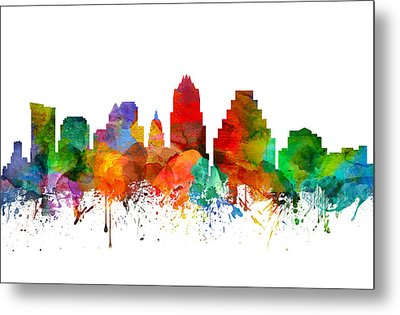 Austin Texas Skyline 21 Metal Print by Aged Pixel