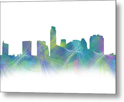 Austin Jazzy Watercolor Skyline Metal Print by Tod and Cynthia Grubbs