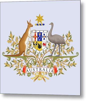 Australia Coat Of Arms Metal Print by Movie Poster Prints