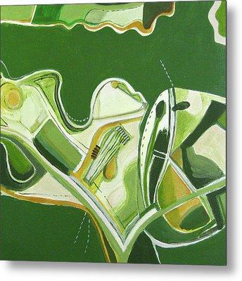 Australia Industrial Metal Print by Toni Silber-Delerive
