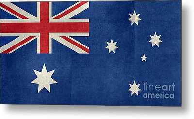 Australian Flag Vintage Retro Style Metal Print by Bruce Stanfield