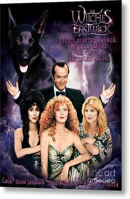 Australian Kelpie - The Witches Of Eastwick Movie Poster Metal Print