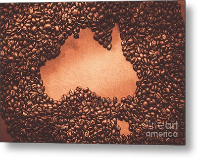 Australian Made Coffee Metal Print by Jorgo Photography - Wall Art Gallery