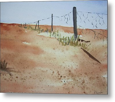 Australian Outback Track Metal Print
