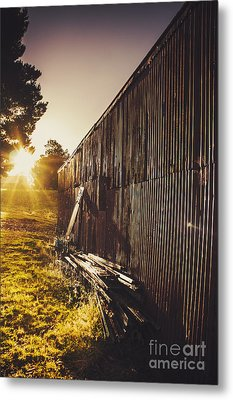 Australian Rural Farm Shed In Waratah Tasmania Metal Print