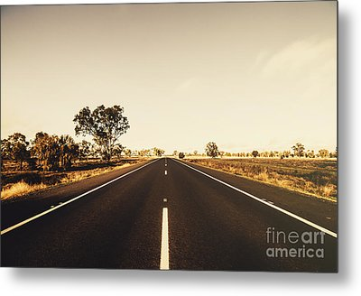 Australian Rural Road Metal Print by Jorgo Photography - Wall Art Gallery