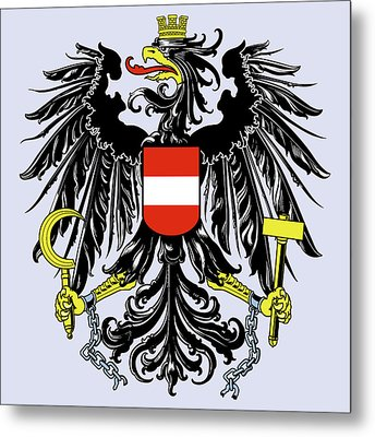 Austria Coat Of Arms Metal Print by Movie Poster Prints