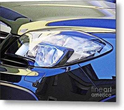 Auto Headlight 191 Metal Print by Sarah Loft