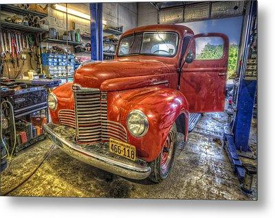 Auto Service Garage Metal Print by Debra and Dave Vanderlaan