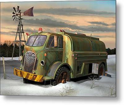 Autocar Waterwagon Metal Print by Stuart Swartz