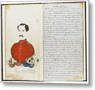 Autograph Manuscript Memoir Metal Print