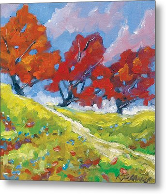 Automn Trees Metal Print by Richard T Pranke