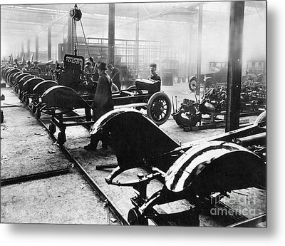 Automobile Manufacturing Metal Print by Granger