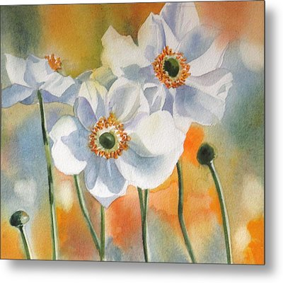 Autumn Anemone Metal Print by Alfred Ng
