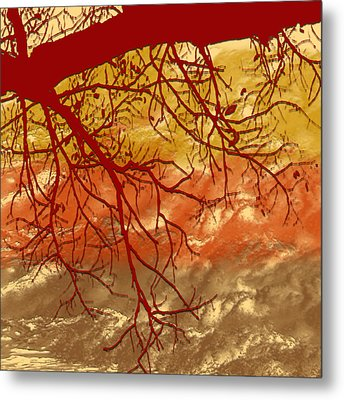 Metal Print featuring the digital art Autumn Art by Milena Ilieva