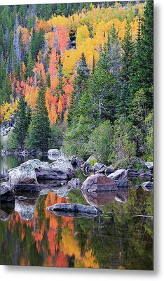 Autumn At Bear Lake Metal Print by David Chandler