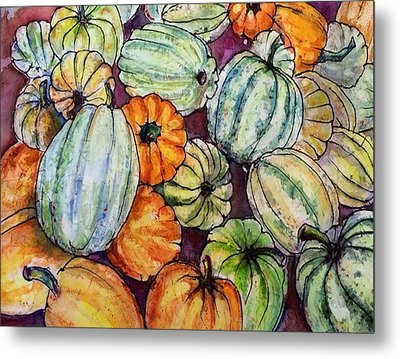 Autumn At Beth's Farmstand Metal Print
