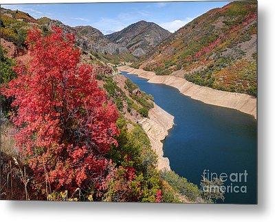Autumn At Causey Reservoir - Utah Metal Print
