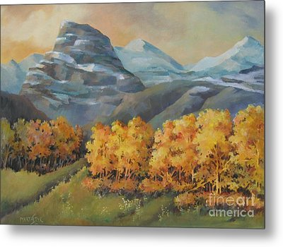 Autumn At Kananaskis Metal Print