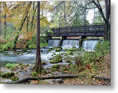 Metal Print featuring the photograph Autumn At Maramec Spring by Cricket Hackmann