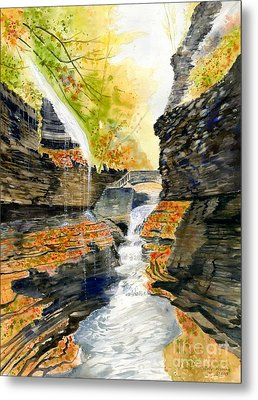 Autumn At Rainbow Falls  Metal Print