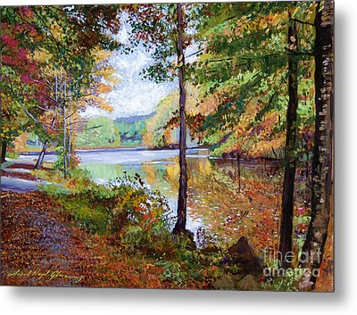 Autumn At Rockefeller Park  Metal Print by David Lloyd Glover