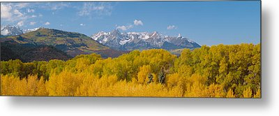 Autumn At Sneffels Mountain Range, San Metal Print by Panoramic Images
