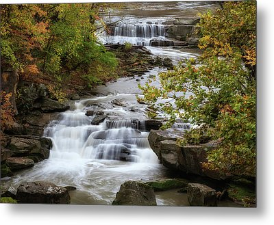 Metal Print featuring the photograph Autumn At The Falls by Dale Kincaid